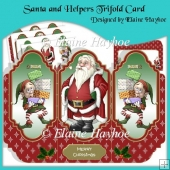 Santa and Helpers Tri-fold Card