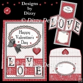Valentine Love Twisted Pop Out Card
