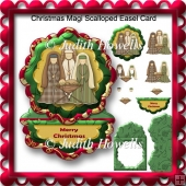 Christmas Magi Scalloped Easel Card