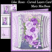 Lilac Roses - Curved Layers Card