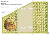 Tri Fold Meadows Edge Nutcracker Squirrel Three Panel Card