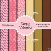 Simply Valentine Scrapbook Papers
