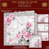 Pink Roses & Doves