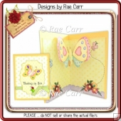010 Butterfly Pop-Up Insert & Topper *HAND & MACHINE Formats*