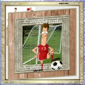 Football fanatic card with decoupage