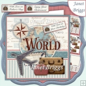 AROUND THE WORLD 7.5 Decoupage & Insert Kit