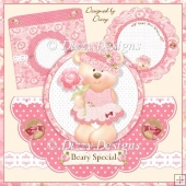 Beary Special - Over The Top Shaped Card