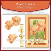 Peach Flower Decoupage Card Front