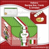 Italiano Recipe Box, Cards & Dividers