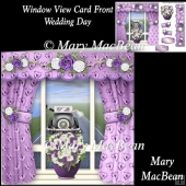 Window View Card Front - Wedding Day