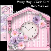 Pretty Posy - Clock Card