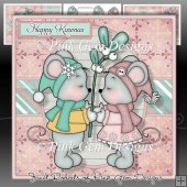 Happy Kissmas Mini Kit Cute Christmas Mice