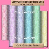 Dainty Lace Backing Papers Set 2
