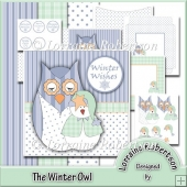 The Winter Owl - 5½ inch Decoupage Card Kit