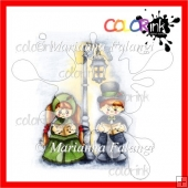 John and Mary Carol Kids Color Digital Stamp