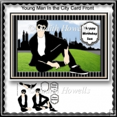 Young Man In The City Card Front