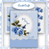 Blue Roses card topper