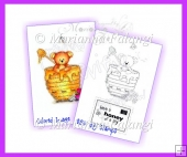 Honey Bear Digital Stamp