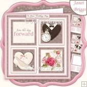 WEDDING DAY SQUARES 7.5 Quick Layer Card & Insert Mini Kit