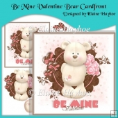 Be Mine Valentine Bear Cardfront with Decoupage