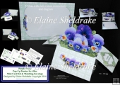 Purple Pansies Pop-Up Box Card Kit & Matching Envelope