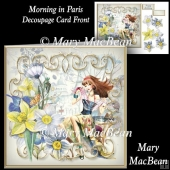 Morning in Paris Decoupage Card Front