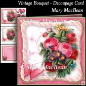 Vintage Bouquet - Decoupage Card