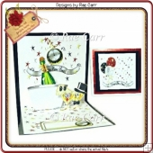 170 Happy New Year Pop-up Card *HAND & MACHINE Cut Files*