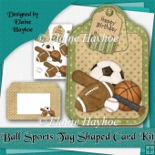 Ball Sports Large Tag Shaped Card Kit