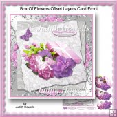 Box Of Flowers Offset Layers Card Front
