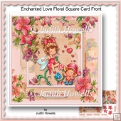Enchanted Love Floral Square Card Front