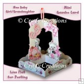New Baby Girl Mini Gazebo Card