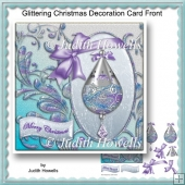 Glittering Christmas Decoration Card Front