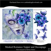 masked Romance Topper and Decoupage