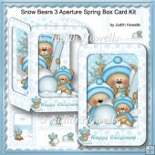 Snow Bears 3 Aperture Spring Box Card Kit