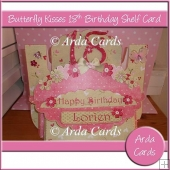 Butterfly Kisses 18th Birthday Shelf Card