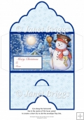 Christmas Money Wallet Gift Voucher Envelope MOONLIT SNOWMAN