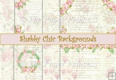 Shabby Chic Backgrounds. 8 A4 size papers. Commercial Use