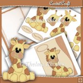 Wavy Edge Giraffe Card Set