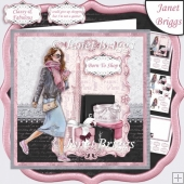 FASHION LADY SHOPPING 7.5 Decoupage & Insert Kit