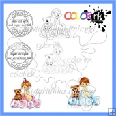 Baby Blocks and sentiment Digi stamps