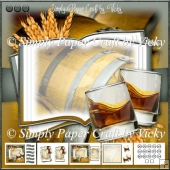 Whiskey Barrel Open Book