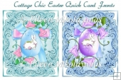 Cottage Chic Easter Pair of Quick Card Fronts