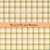 Peach Plaid Papers