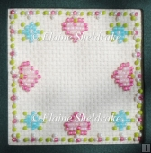 Pretty Pink Hearts Beaded Frame or Fridge Magnet Pattern Chart