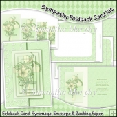 Sympathy Foldback Card, Envelope & Backing Paper