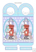 Penguin Post Box Christmas Door Hanger
