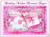 Birthday Wishes Mirrored Card Topper with Decoupage