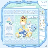 NEW BABY BOY GIRAFFE 7.5 Decoupage & Insert Mini Kit