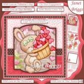 LOVE YOU BUCKETLOADS Hearts For You 7.5 Decoupage & Insert Kit